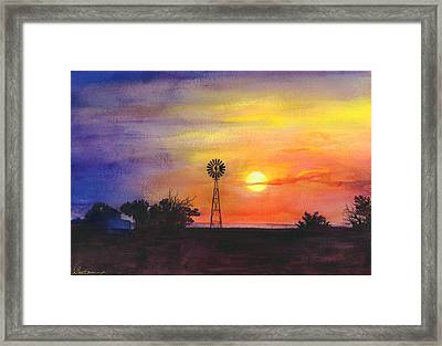 Palo Duro Sunset Framed Print by Don Dane
