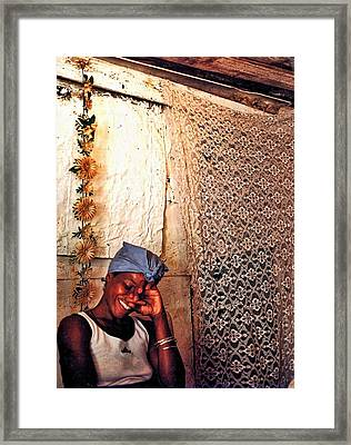 Palo Lady With Cigar Framed Print by Larry Sides