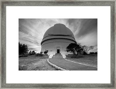 Framed Print featuring the photograph Palomar Observatory by Robert  Aycock