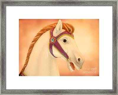 Palomino Carousel Horse Framed Print by Sabrina L Ryan