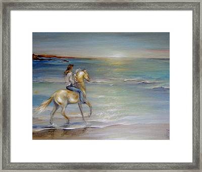Palomino Sunrise Framed Print