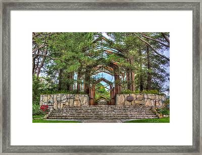Palos Verdes Stone And Glass Framed Print by Heidi Smith