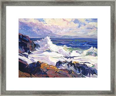 Palos Verdes Surf Framed Print by David Lloyd Glover