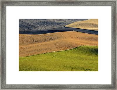Palouse Abstract Framed Print by Latah Trail Foundation