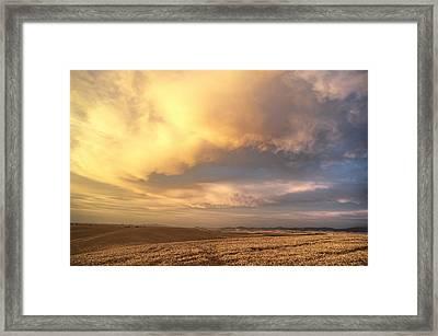 Palouse August Sunset Framed Print