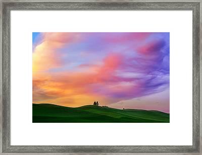 Palouse Cirrus Rainbow Framed Print