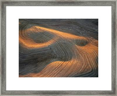 Palouse Contours I Framed Print by Latah Trail Foundation