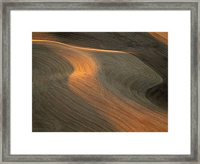 Palouse Contours II Framed Print by Latah Trail Foundation