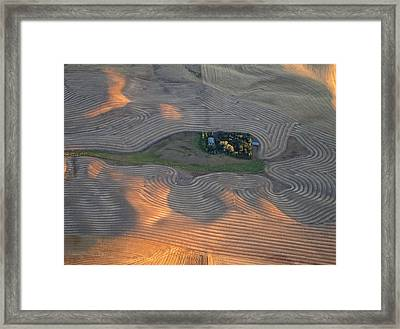 Palouse Contours IIi Framed Print by Latah Trail Foundation