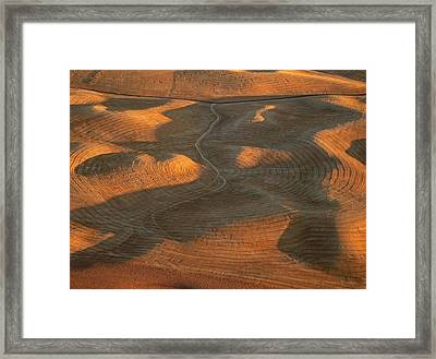 Palouse Contours Iv Framed Print by Latah Trail Foundation