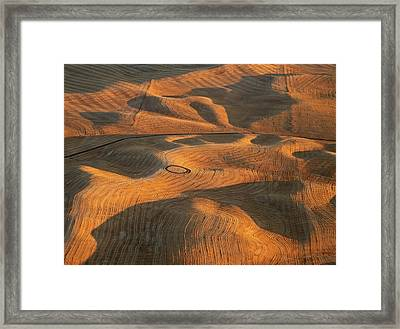 Palouse Contours V Framed Print by Latah Trail Foundation