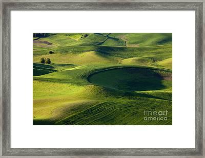 Palouse Curves Framed Print