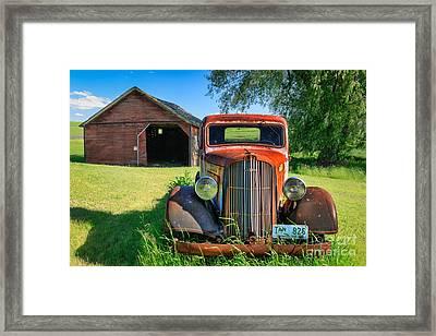 Palouse Dodge Framed Print by Inge Johnsson