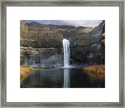 Framed Print featuring the photograph Palouse Falls In The Winter by Farol Tomson