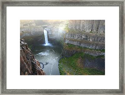 Palouse Falls Framed Print by Rich Collins