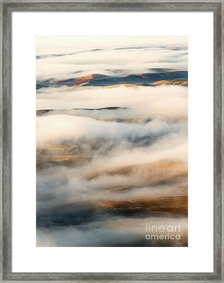 Palouse Fog Clears Framed Print by Mike Dawson