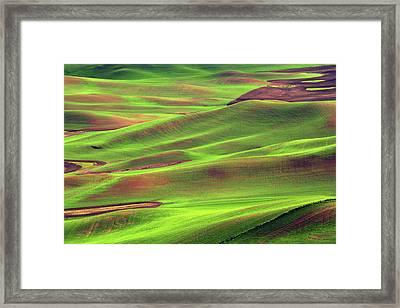 Palouse From Steptoe Butte Framed Print by Michel Hersen