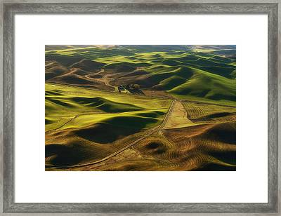 Palouse Homestead Framed Print by Ryan Manuel