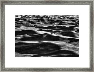 Palouse In Black And White Framed Print