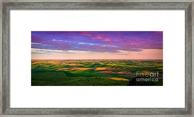 Palouse Land And Sky Framed Print by Inge Johnsson