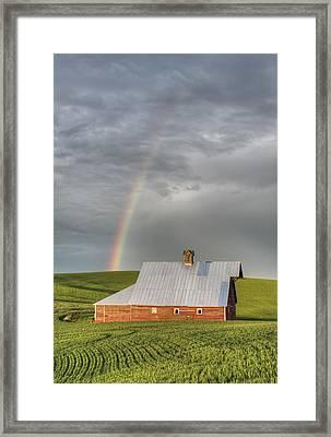 Palouse Rainbow Framed Print