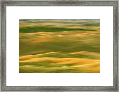 Palouse Symmetry 2 Framed Print by Latah Trail Foundation