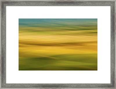 Palouse Symmetry Framed Print by Latah Trail Foundation