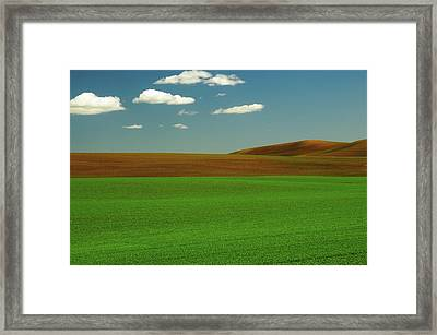 Palouse View In Whitman County Framed Print by Michel Hersen