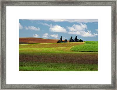Palouse View, Whitman County, Washington Framed Print by Michel Hersen
