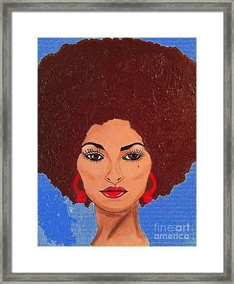 Pam Grier Aka Jackie Brown 1979 Framed Print by Saundra Myles