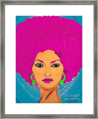 Pam Grier Bold Diva C1979 Pop Art Framed Print