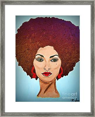 Pam Grier C1970 The Original Diva Framed Print