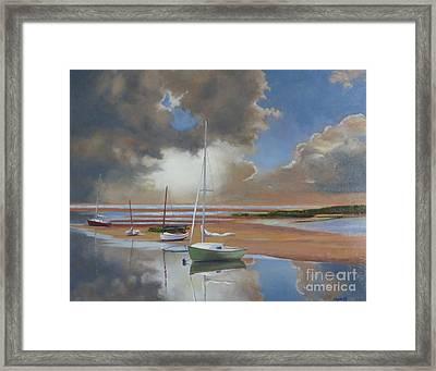 Pamet Harbor Inlet Framed Print by Karol Wyckoff