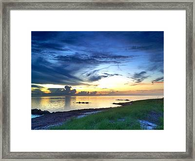 Pamlico Sunset Framed Print