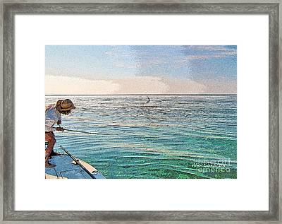 Pam's Poon Framed Print