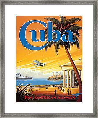 Pan Am Cuba  Framed Print