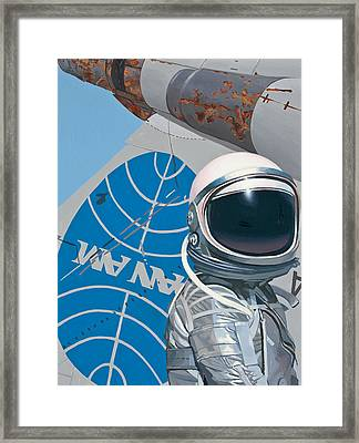 Framed Print featuring the painting Pan Am by Scott Listfield