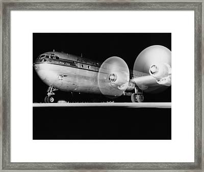 Pan American Boeing 377 Framed Print by Underwood Archives