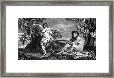 Pan And Apollo Framed Print by Collection Abecasis