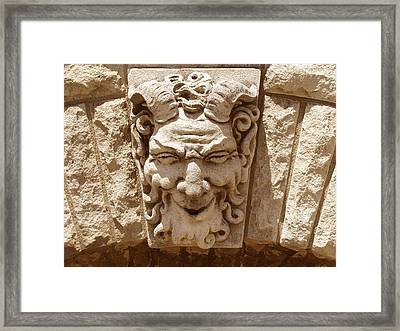Pan Architectural Detail Framed Print by Ann Powell