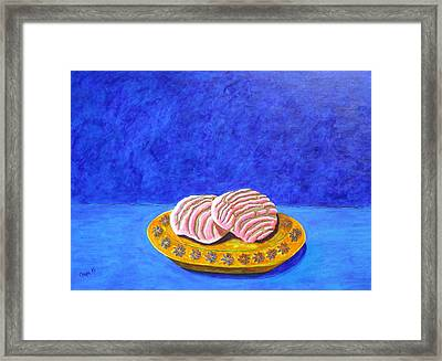 Pan Dulce Azul Framed Print by Manny Chapa