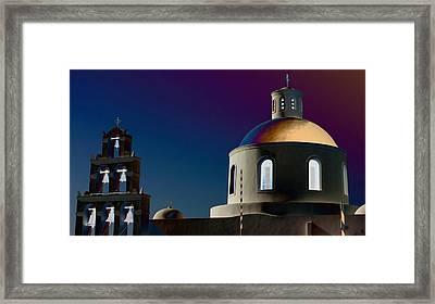 The Church Of Panagia Of Platsani Framed Print by Mark J Dunn