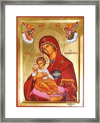 Panagia - Virgin Mary Framed Print by Theodoros Patrinos