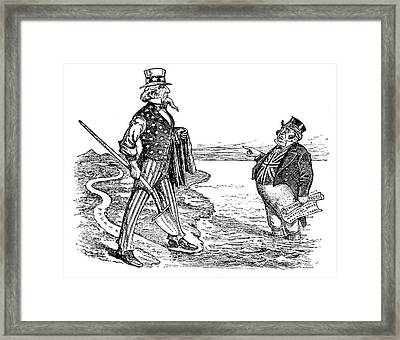 Panama Canal Cartoon, 1912 Framed Print