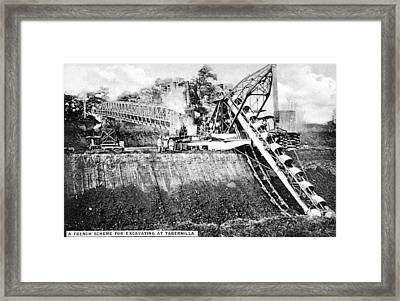 Panama Canal French Work Framed Print by Granger