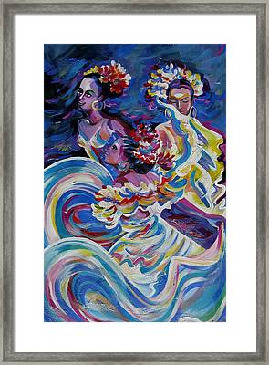 Panama Carnival. Folk Dancers Framed Print