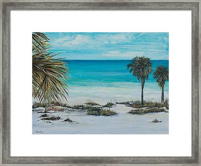Panama City Beach Framed Print by Nancy Lauby