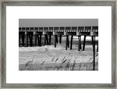 Panama City Beach Pier Framed Print by Debra Forand