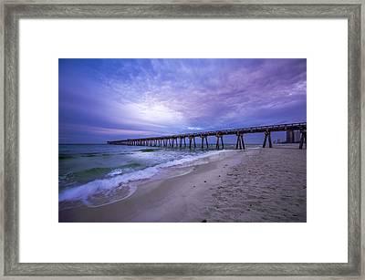 Panama City Beach Pier In The Morning Framed Print