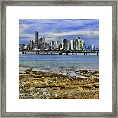 Framed Print featuring the photograph Panama City by Rob Tullis